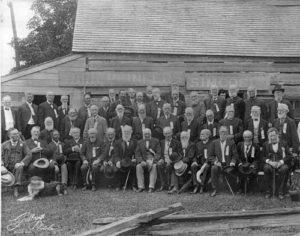 York Pioneers gathered at Scadding Cabin around 1900